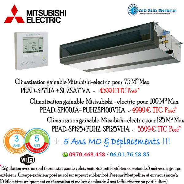 Gainables Mitsubishi electric pead-sp essentiel