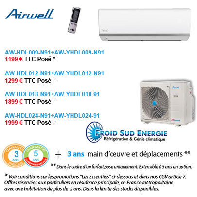Climatisation Airwell HDL