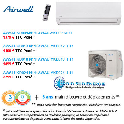 Climatisation Airwell HKD