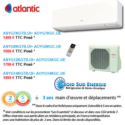 Climatisation Atlantic Takao M3 Confort plus