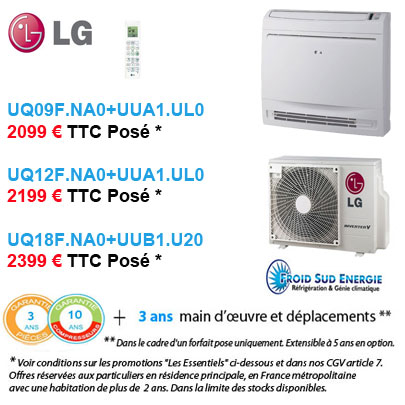 Climatisation LG Console