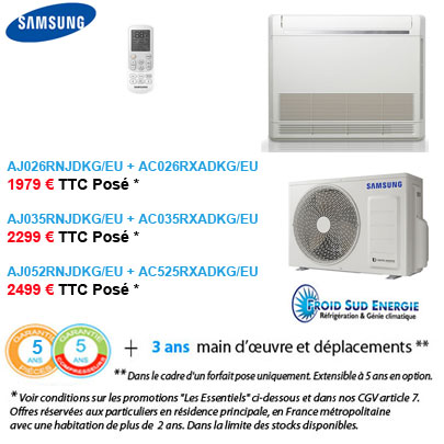 Climatisation Samsung console